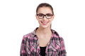 Portrait of beautiful teen girl with wayfarers Royalty Free Stock Images