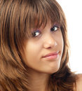 Portrait of the beautiful teenage girl Stock Photography