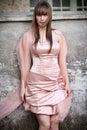 Portrait beautiful woman with elegant dress Royalty Free Stock Photo