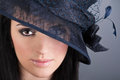 Portrait of beautiful woman in vintage hat Royalty Free Stock Photo
