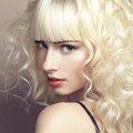 Portrait of beautiful young blonde girl Royalty Free Stock Photo