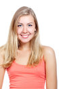 Portrait of beautiful young blonde woman Stock Photo