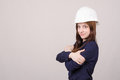 Portrait of beautiful young girl in helmet Royalty Free Stock Photo