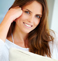 Portrait of beautiful young woman smiling Royalty Free Stock Images