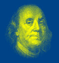 Portrait of benjamin franklin isolated Stock Photos