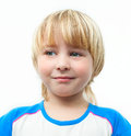 Portrait blond little boy Stock Image