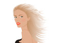Portrait of blonde woman illustration beautiful young Royalty Free Stock Photography