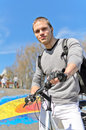Portrait of BMX bicycle rider Stock Photography