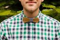 Portrait With Bowtie In Nature