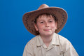 Portrait of a boy in a cowboy hat Royalty Free Stock Photography