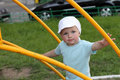 Portrait of boy on playground Royalty Free Stock Image