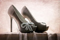 Portrait Of A Bride's Shoes Royalty Free Stock Photo