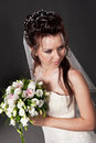 Portrait of the bride in a studio Royalty Free Stock Photo