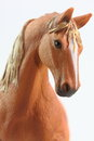 Portrait of Brown Horse toy Royalty Free Stock Photo