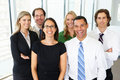 Portrait of business team in office smiling to camera Royalty Free Stock Image