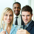 Portrait of businesspeople toasting with champagne Stock Photography