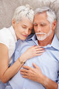 Portrait of a charming couple fast a sleeping Stock Images