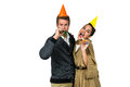 Portrait of cheerful couple celebrating birthday Royalty Free Stock Photo