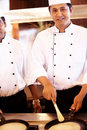 Portrait of chef cooking at restaurant kitchen Royalty Free Stock Photography