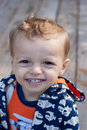 Portrait of a child close up smiling young boy Royalty Free Stock Photo