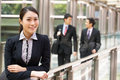 Portrait Of Chinese Businesswoman Outside Office Royalty Free Stock Photography