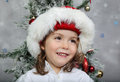 Portrait for christmas of young boy during Royalty Free Stock Photography