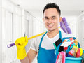 Cleaning service in the office Royalty Free Stock Photo
