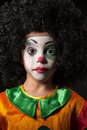 Portrait of clown Royalty Free Stock Image