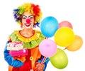 Portrait of clown. Royalty Free Stock Photos