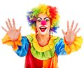 Portrait of clown. Stock Photo