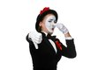 Portrait of the condemning mime Royalty Free Stock Photo