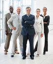 Portrait of confident business people smiling Stock Photography