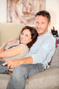 Portrait of couple at home Royalty Free Stock Image