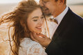 Portrait couples, tenderness love nature Royalty Free Stock Photo