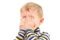 Portrait of a crying boy