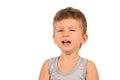 Portrait of crying little boy