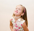 Portrait of crying little girl disobedient Stock Photography