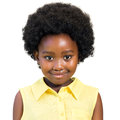 Portrait of cute african girl with afro hairstyle. Royalty Free Stock Photo