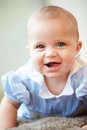 Portrait of cute baby boy smiling to camera Stock Photography