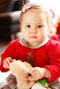 Portrait of cute baby with toy Stock Photography