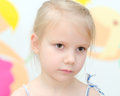 Portrait cute little blonde girl Royalty Free Stock Image