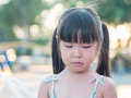 Portrait of a cute little girl , crying action Royalty Free Stock Photo