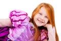 Portrait cute playful little princess Stock Photos