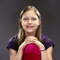 Portrait of a cute teen girl studio shot Royalty Free Stock Photo