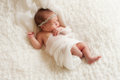 Portrait d angelic newborn girl Photographie stock