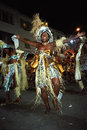 Portrait of dancing female carnival reveler
