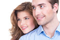 Portrait de beaux couples de sourire Photo stock