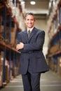 Portrait de directeur in warehouse Photo stock