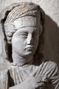 Portrait of a deceased woman at the palmyra graves Stock Photography
