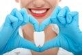 De diente en blanco